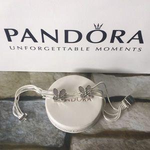Pandora reflexions charm bracelet w butterfly